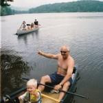 Jon and Christopher Canoe Race