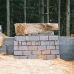 Setting stone hearth