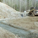 retaining wall footer